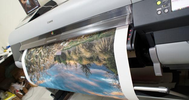 canvas print production